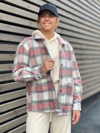 Noella - Viksa Jacket Wool - Peach Checks