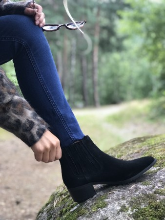 Selected Femme Black Slfelena New Suede Chelsea Boot B