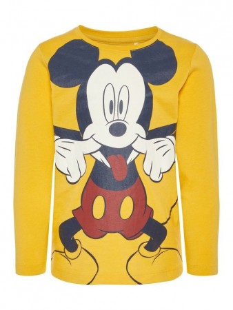 Name It Yolk Yellow Nmmmickey Tommy Ls Top Wdi