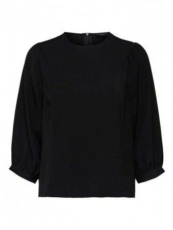 Selected Femme Black - Slfthea 3/4 Top B