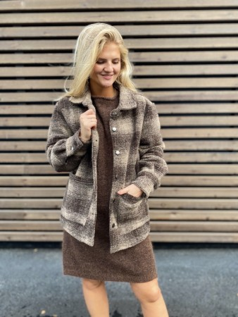 Noella Viksa Jacket Wool - Brown/sand Check