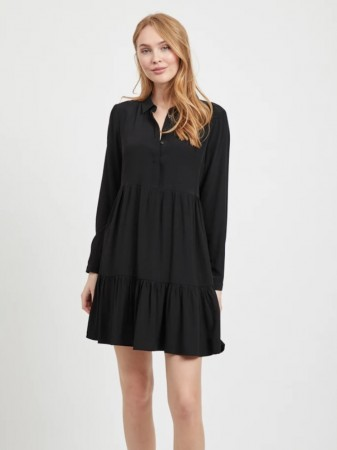Vila Black Vimoras L/s Shirt Dress