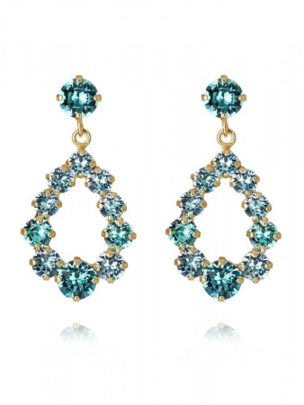 Caroline Svedbom - Mini Delia Earring Gold Light Turq/aquamarine