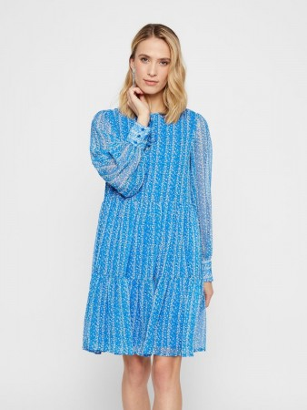 Y.a.s Brilliant Blue Yascordelia Ls Dress S.