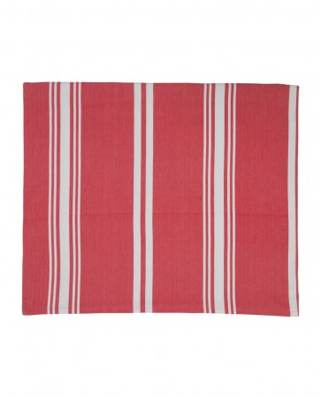 Lexington Red/white Striped Tablecloth 150x250
