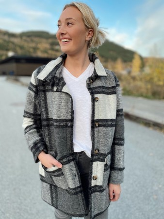 Noella Rai Jacket - Grey Checks