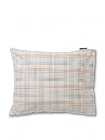 Lexington White/beige Checked Madras Poplin Pillowcase 50x70cm