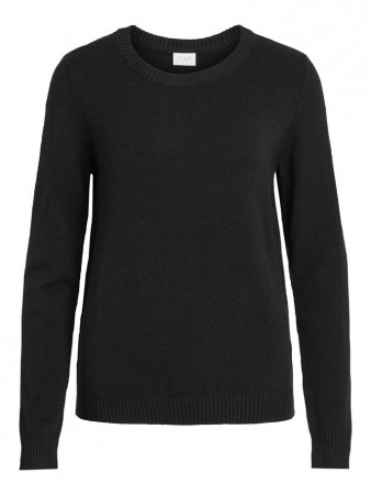 Vila Black Viril L/s O-neck Knit Top