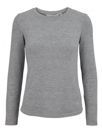 Basic Apparel 094 Light Grey Issa L/s