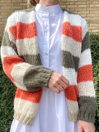Noella Army/Orange Kala Knit Cardigan Stripes