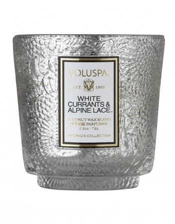 Voluspa Boxed Mini Pedestal Glass Candle - white currants & alpine lace