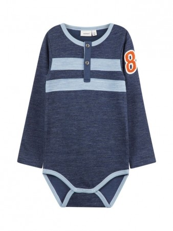 Name It Dress Blues Nmmwuppo Wool/co Ls  Body