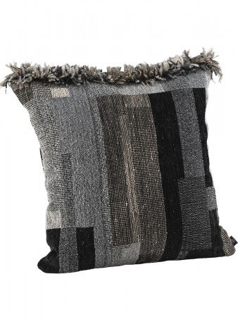 Artwood Black La Rochelle Cc/b 60x60 Fringe Grey/magnum Black