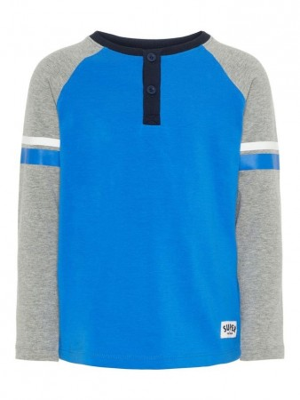Name It Strong Blue Nmmtaxson Ls Top