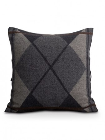 Lexington Gray Argyle Wool Sham 50x50