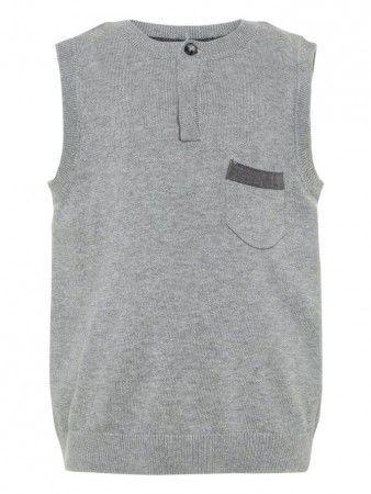 Name It Grey Melange Nmmrister Knit Slipover