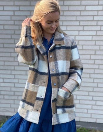 Noella Viksa Jacket Wool - Camel/black Checks