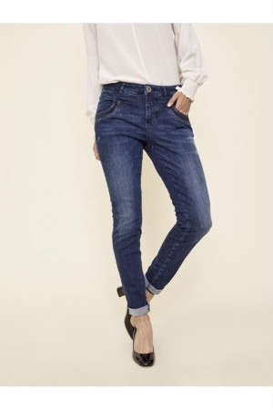 Mos Mosh Dark Blue Denim Naomi Shine Jeans