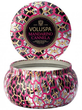 Voluspa 2-wick In Tin    50im Mandarino Cannela