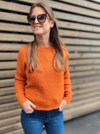 Msch Apricot Orange Femme Mohair O Pullover