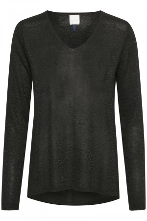 Culture Black Anne Mette V-neck