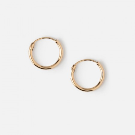 Orelia Pale Gold Micro Hoop Earrings
