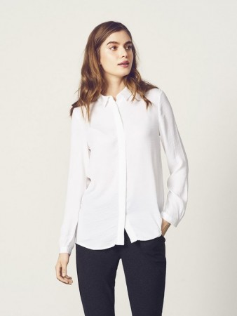Msch Cloud White Blair Polysilk Shirt
