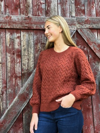 Basic Apparel Red Rust Emma Sweater