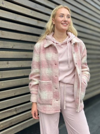Noella - Viksa Jacket Wool - Pink/white Checks