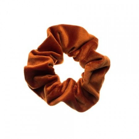 Dark Copper Velvet Scrunchies
