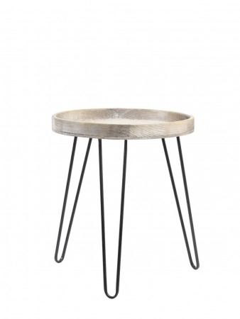 Light And Living Wood Side Table  ø45x53 Cm Kenzie