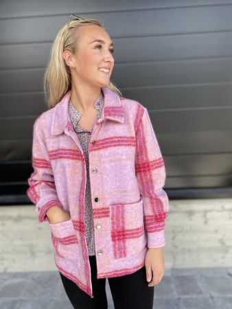 Noella Viksa Jacket Wool - Purple Checks