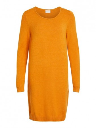 Vila Golden Oak Viril L/s Knit Dress