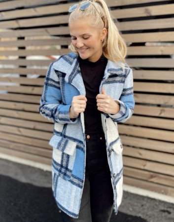 Noella Rai Jacket - Blue Checks