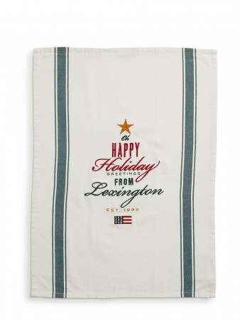 Lexington Green Holiday Greetings Kitchen Towel