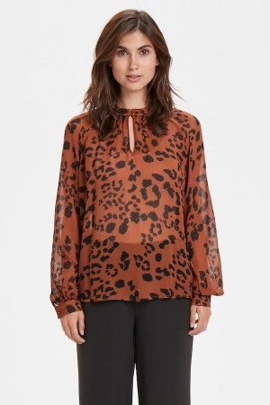 Part Two Leopard Print, Brown. Tali Bl