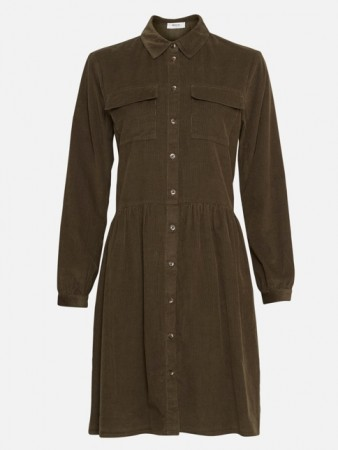 Msch Grape Leaf Frea Ls Shirt Dress