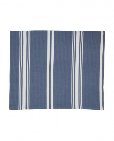 Lexington Blue/white Striped Tablecloth 150x250