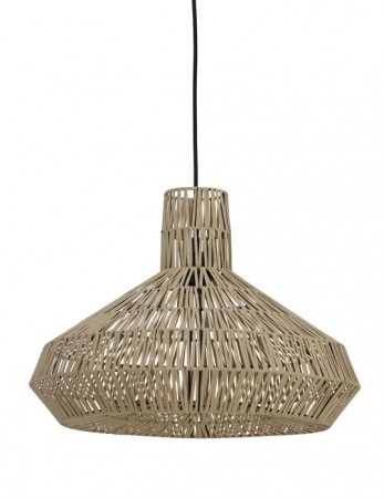 Light And Living - Masey Hanging Lamp ø49*35 Cm Natural Leather