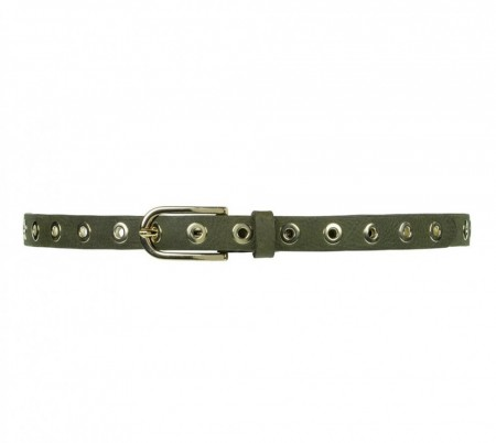 Depeche 049 Army Green Narrow Belt Studs
