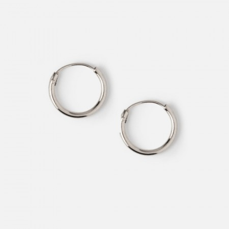 Orelia Silver Micro Hoop Earrings