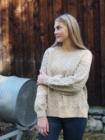Basic Apparel 369 Natural Emma Sweater
