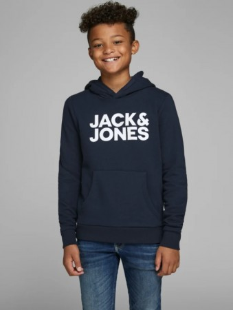 Jack & Jones Navy Blazer Jjecorp Logo Sweat Hood Ss19 Jr