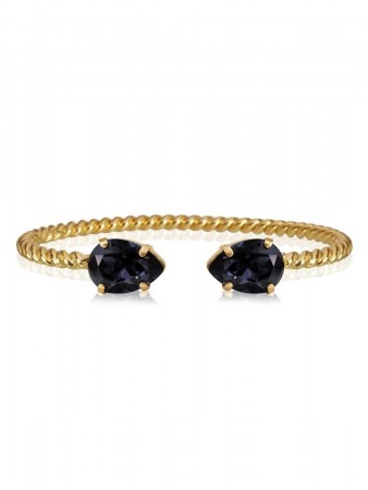 Caroline Svedbom - Mini Drop  Bracelet Gold Graphite