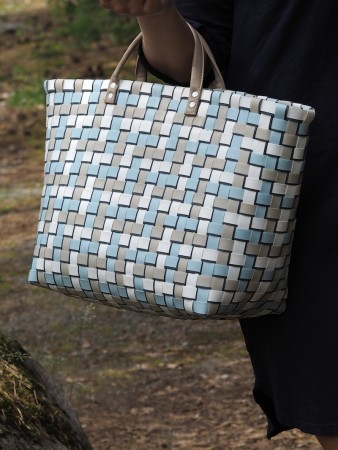 Handed By Pastel Blue Refined Shopper