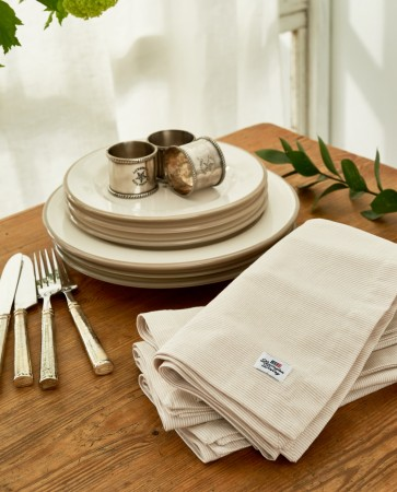 Lexington Beige Oxford Striped Napkin