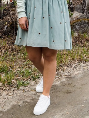 Holzweiler Teal Sotre Bee Humble Skirt
