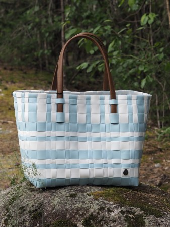 Handed By Pastel Blue Lumberjack Shopper Sunset