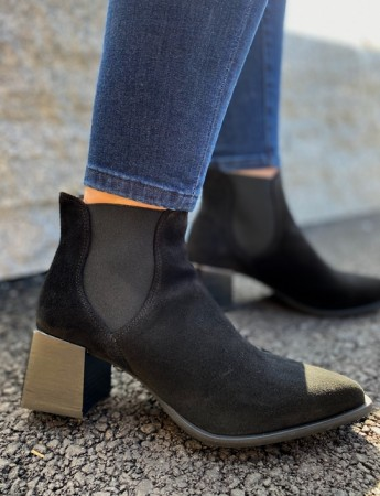 Pavement Black Suede 017 Serena