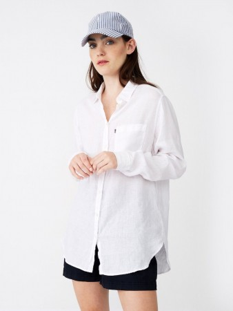 Lexington White Isa Linen Shirt